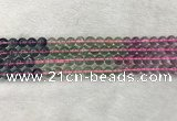CFL1490 15.5 inches 8mm round rainbow fluorite gemstone beads