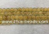 CFL1509 15.5 inches 10mm round yellow fluorite gemstone beads