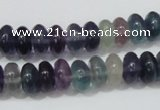 CFL157 15.5 inches 6*10mm rondelle natural fluorite gemstone beads