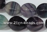 CFL161 15.5 inches 15*20mm twisted rice natural fluorite beads