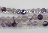 CFL201 15.5 inches 6mm round purple fluorite gemstone beads wholesale