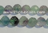 CFL253 15.5 inches 10mm faceted round natural fluorite beads