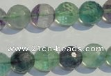 CFL254 15.5 inches 12mm faceted round natural fluorite beads
