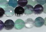 CFL326 15.5 inches 12mm faceted round natural fluorite beads