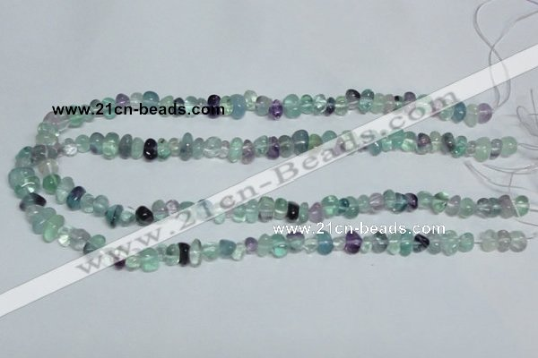 CFL330 15.5 inches 6*9mm nugget natural fluorite beads