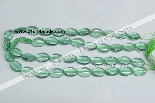 CFL336 15.5 inches 13*18mm oval natural green fluorite beads