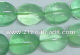 CFL340 15.5 inches 15*20mm nugget natural green fluorite beads