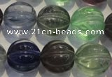 CFL465 15.5 inches 18mm pumpkin natural fluorite beads