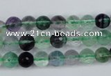 CFL52 15.5 inches 8mm faceted round AB grade natural fluorite beads
