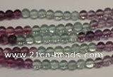 CFL550 15.5 inches 4mm round fluorite gemstone beads wholesale