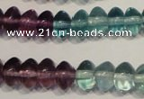 CFL561 15.5 inches 4*6mm rondelle fluorite gemstone beads wholesale