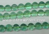 CFL612 15.5 inches 8mm round A grade green fluorite beads wholesale