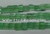 CFL631 15.5 inches 6*6mm cube green fluorite beads wholesale