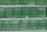 CFL633 15.5 inches 10*10mm cube green fluorite beads wholesale
