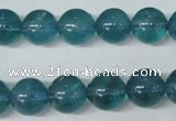 CFL664 15.5 inches 12mm round AB grade blue fluorite beads wholesale