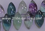 CFL701 Top-drilled 9*18mm marquise natural fluorite beads wholesale