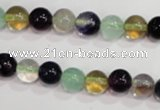 CFL752 15.5 inches 8mm round rainbow fluorite gemstone beads