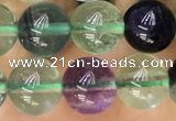CFL920 15.5 inches 8mm round fluorite gemstone beads