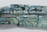 CFS116 15.5 inches 18*25mm rectangle blue feldspar gemstone beads