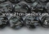 CFS312 15.5 inches 12mm flat round feldspar gemstone beads