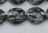 CFS314 15.5 inches 18mm flat round feldspar gemstone beads