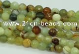 CFW01 15.5 inches 4mm faceted round flower jade beads wholesale