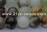 CFW15 15.5 inches 12mm round flower jade beads wholesale