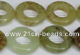CFW168 15.5 inches 22mm donut flower jade gemstone beads