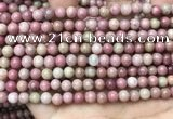 CFW45 15.5 inches 6mm round pink wooden jasper beads wholesale