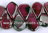 CGA15 multi sizes flat teardrop garnet gemstone beads Wholesale