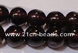 CGA353 14 inches 5mm round natural red garnet beads wholesale