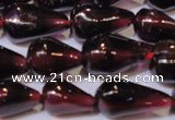 CGA369 15 inches 5*8mm teardrop natural red garnet beads wholesale