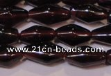 CGA374 15 inches 5*8mm rice natural red garnet beads wholesale