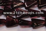 CGA390 15 inches 6*7mm triangle natural red garnet beads wholesale