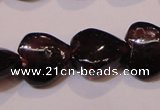 CGA393 15 inches 8*8mm heart natural red garnet beads wholesale