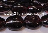 CGA397 15 inches 7*9mm oval natural red garnet beads wholesale