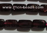 CGA403 15.5 inches 5*8mm rectangle natural red garnet beads wholesale