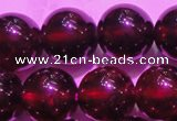 CGA420 15.5 inches 8mm round natural red garnet gemstone beads