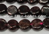 CGA466 15.5 inches 8mm coin natural red garnet beads wholesale