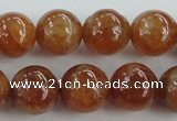 CGA503 15.5 inches 8mm round A grade yellow red garnet beads