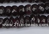 CGA678 15.5 inches 4*7mm faceted rondelle red garnet beads
