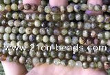 CGA705 15.5 inches 6mm faceted round green garnet beads