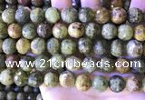 CGA708 15.5 inches 12mm faceted round green garnet beads