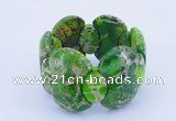 CGB151 8 inches fashion dyed imperial jasper gemstone stretchy bracelet