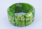CGB160 8 inches fashion dyed imperial jasper gemstone stretchy bracelet