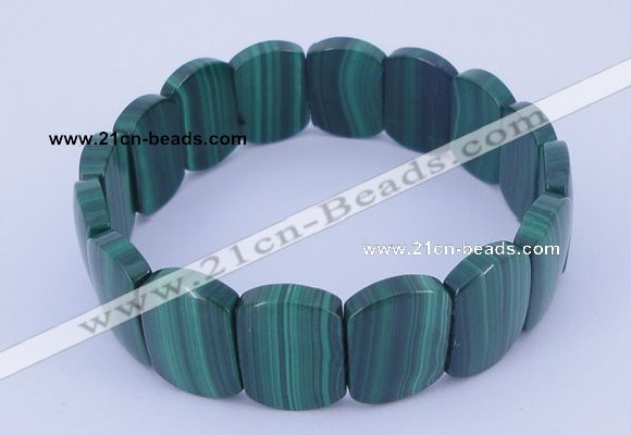 CGB225 7 inches 11*16mm rectangle natural malachite gemstone bracelets