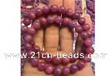 CGB2502 7.5 inches 8mm round ruby gemstone beaded bracelets