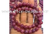 CGB2503 7.5 inches 9mm round ruby gemstone beaded bracelets