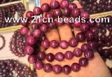 CGB2513 7.5 inches 9mm round ruby zoisite beaded bracelets