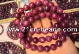 CGB2514 7.5 inches 11mm round ruby zoisite beaded bracelets